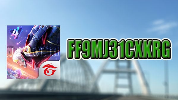 Kode Redeem FF FF9MJ31CXKRG